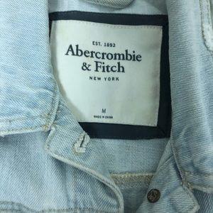 Abercrombie and Fitch denim vest light wash